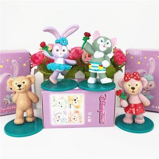 Set Mô Hình Gấu Duffy Và Thỏ Stella Dùng Để Trang Trí Bánh Kem