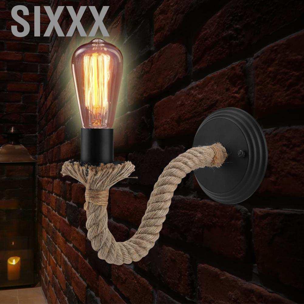 Đèn Gắn Tường Phong Cách Đồng Quê Cổ Điển E27 90-250v