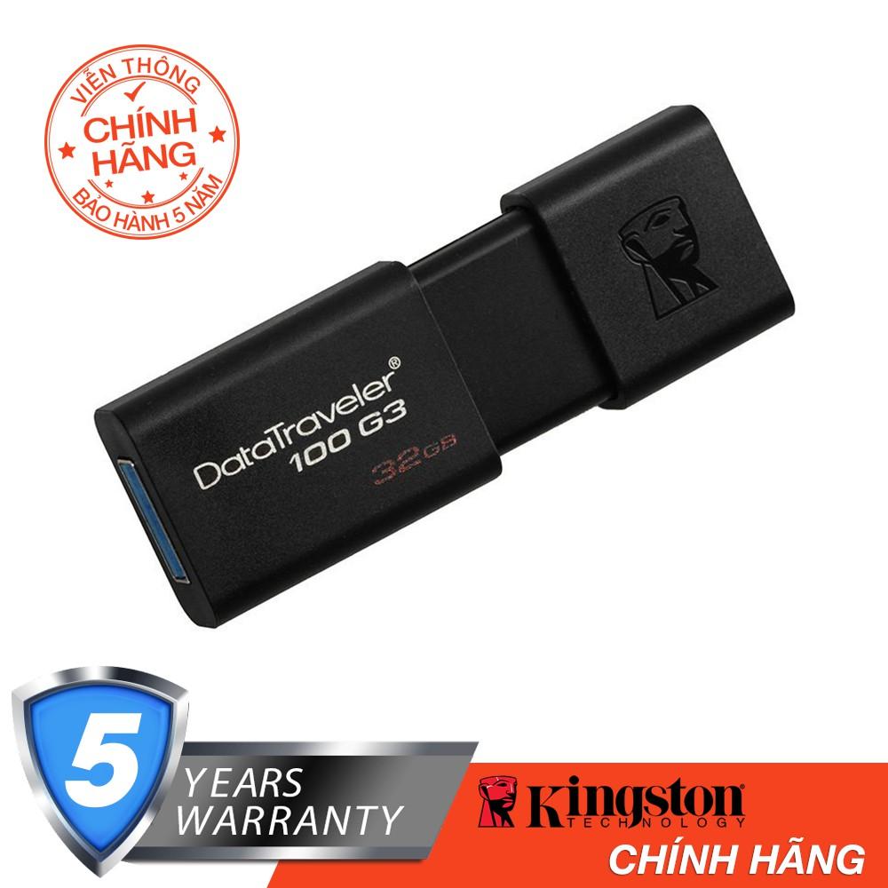 USB Kingston DT100G3 32GB - USB 3.0 - Hãng Phân Phối Chính Thức