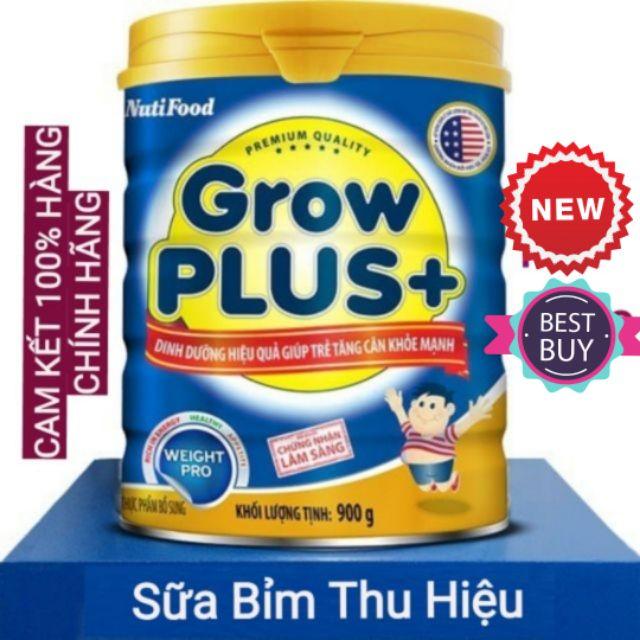 [Mã 267FMCGSALE giảm 8% đơn 500K] Sữa bột Growplus xanh nutifood 900g date mới