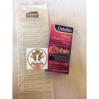 Vitamin mặt trời Ostelin D3 cho bé dạng giọt
