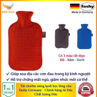 [Chính Hãng] Túi Chườm nóng lạnh Fashy Bọc lông cừu (nhập khẩu từ Đức) giúp chườm hạ sốt, chườm bụng kinh, giảm đau