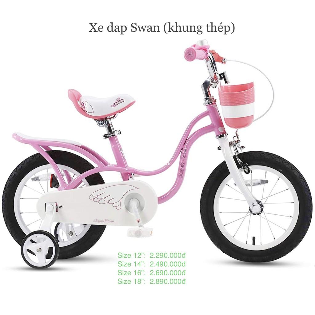 """Size 14"""" Xe đạp trẻ em Royal Baby Swan ( Royalbaby - Xe đạp cho bé )"""