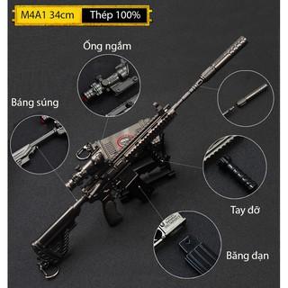 Mô Hình PUBG M416 IRon 36cm Có Thể Tháo Rời Tặng Kèm Giá Đỡ Trưng Bày