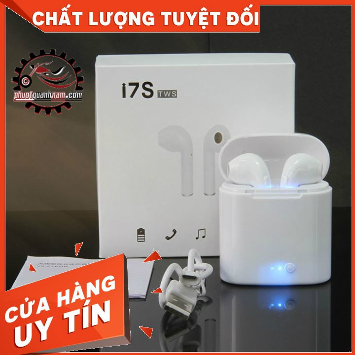 Tai nghe bluetooth không dây I7S cao cấp- công nghệ âm thanh 4.1 2019