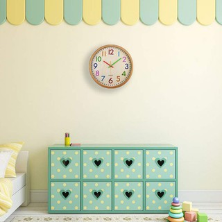 Silent Non Ticking Kids Wall Clock, Battery Colorful Decorative Clock