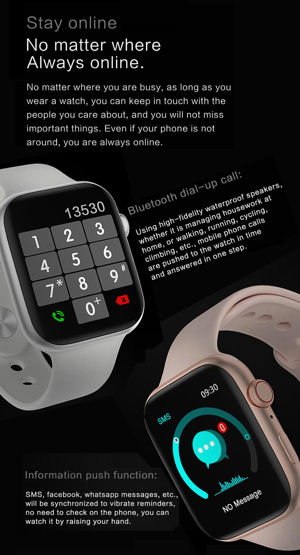 Đồng Hồ Thông Minh LYKRY DW98 IWO Màn Hình Vuông Kết Nối Bluetooth IPX7 Theo Dõi Nhịp Tim/ Luyện Tập Thể Dục 1.8 Inch