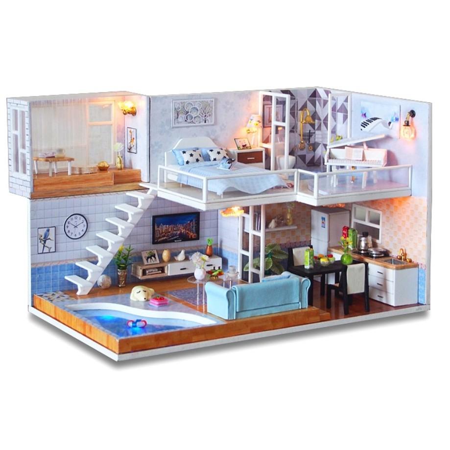 Mô hình nhà búp bê gỗ Cute Room - Biệt thự Because You