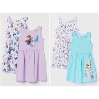 Váy cotton sát nách Elsa HM 1-10Y (có ảnh thật)