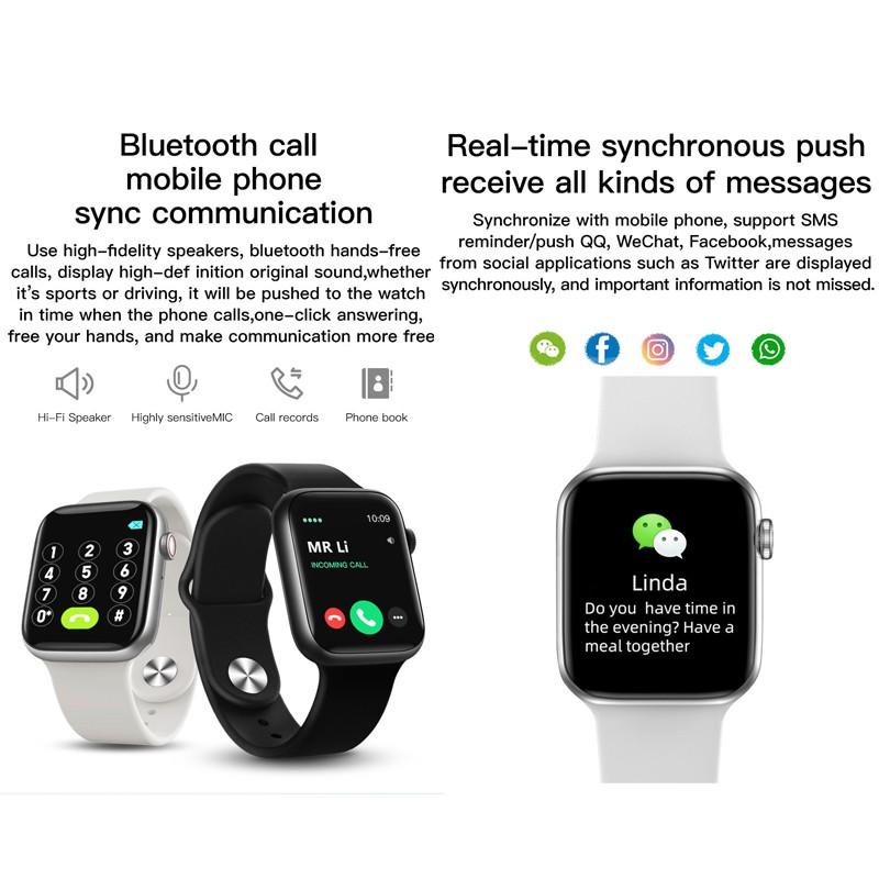 Đồng Hồ Đeo Tay Thông Minh T500 + Plus Whatsappp Thể Thao Cho Ios Android Vs T500 T500 + T500 + Pro