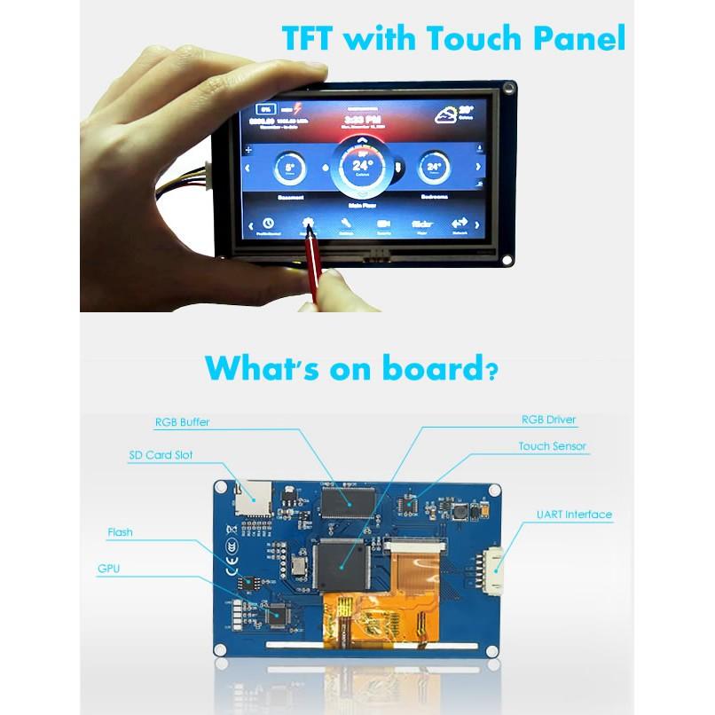 Màn hình HMI UART Cảm ứng Điện trở Nextion 3 5 inch