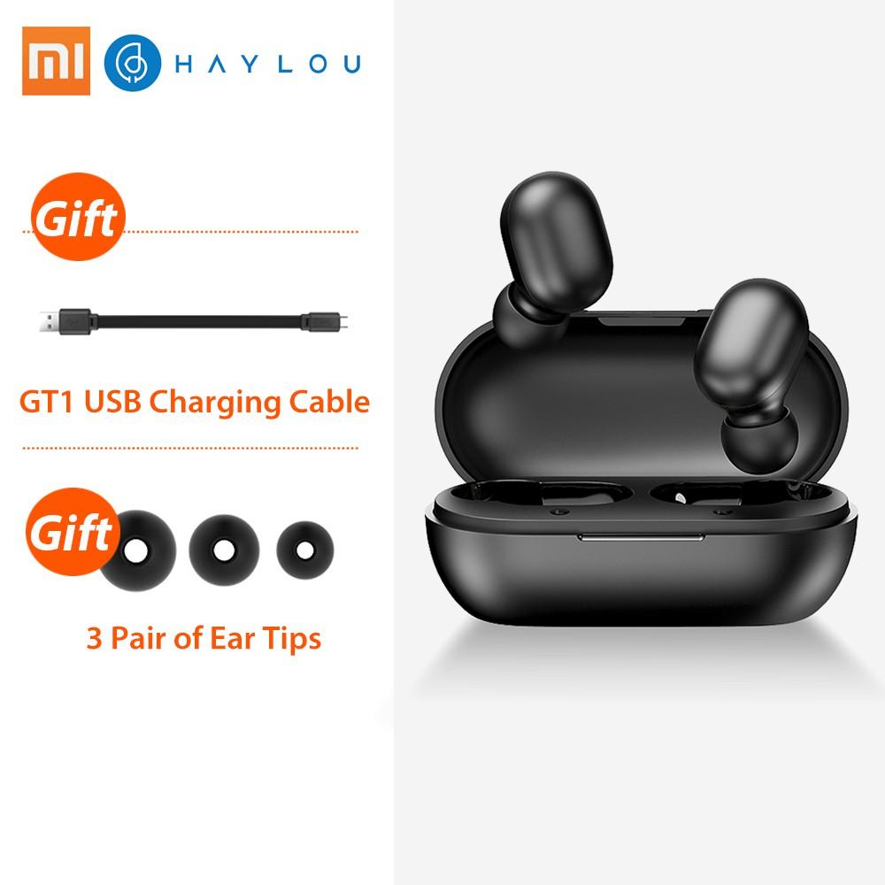 Tai nghe Bluetooth True Wireless - Haylou GT1 chống nước chuẩn IPX5, pin 12 giờ, nút cảm ứng, đàm thoại, chuyển bài nhạc