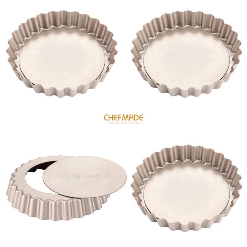 CHEFMADE Set 4 Khuôn Làm Bánh Tart 4inch Chống Dính WK9022-4