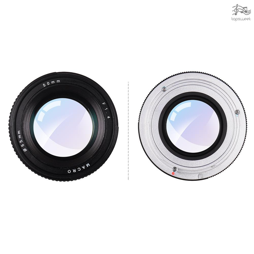 TS* 50mm f/1.4 USM Large Aperture Standard Anthropomorphic Focus Lens Camera Lens Low Dispersion for Canon 100D 200D 350
