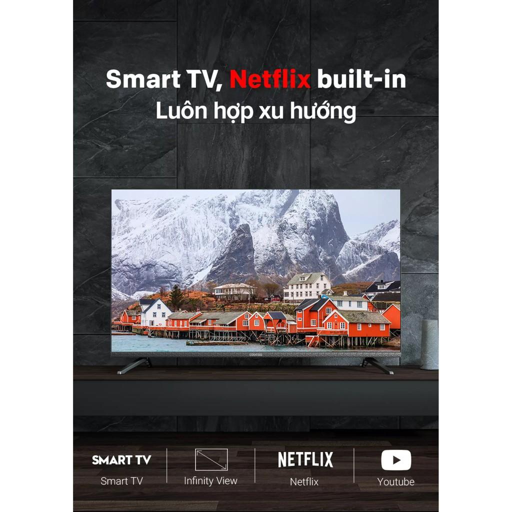 XÃ HÀNG - SMART TV 40inch FullHD Coocaa Tràn viền (Bạc) - Chân viền kim loại - Bảo hành chính hãng 2 năm tại nhà
