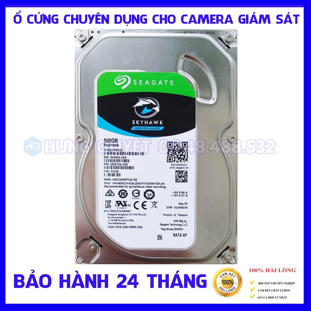 Ổ cứng Chuyên dụng Camera giám sát HDD Seagate Skyhawk 500GB – Bảo hành 24 tháng 1 đổi 1 Giá chỉ 430.000₫