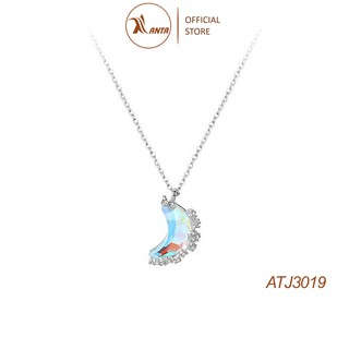 Dây chuyền bạc 925 mặt hình mặt trăng khuyết thay đổi màu sắc dành cho nữ ANTA Jewelry - ATJ3019