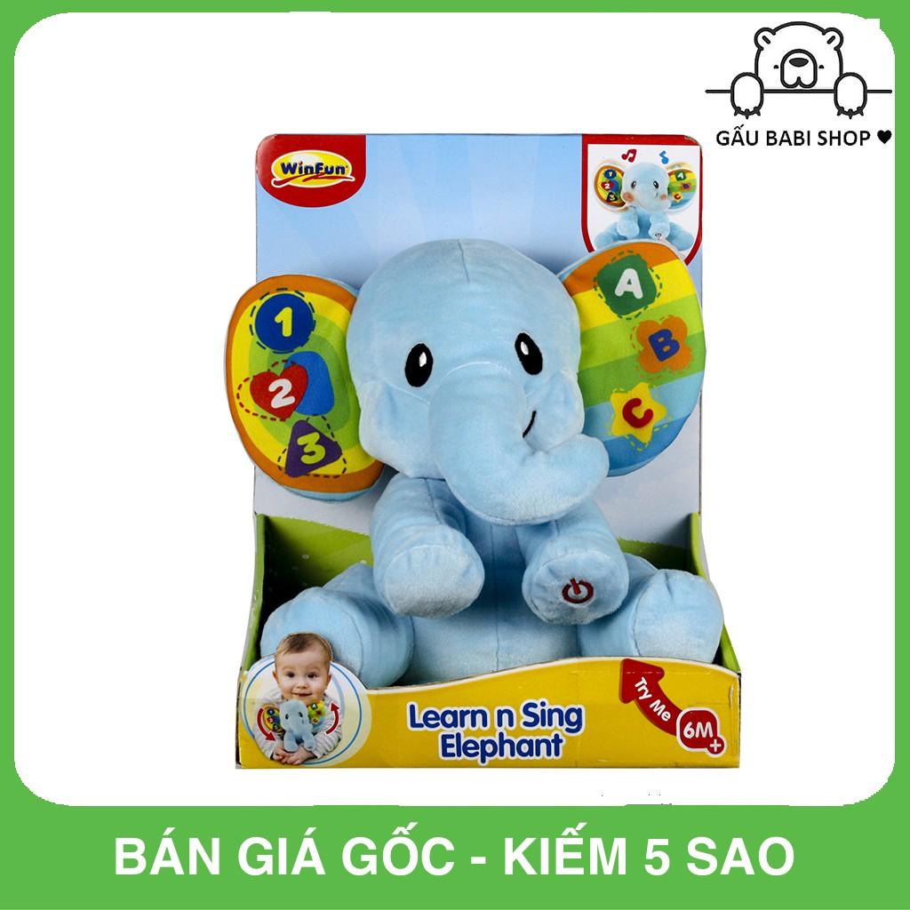 Đồ chơi hình con voi có nhạc Winfun – Hàng chính hãng