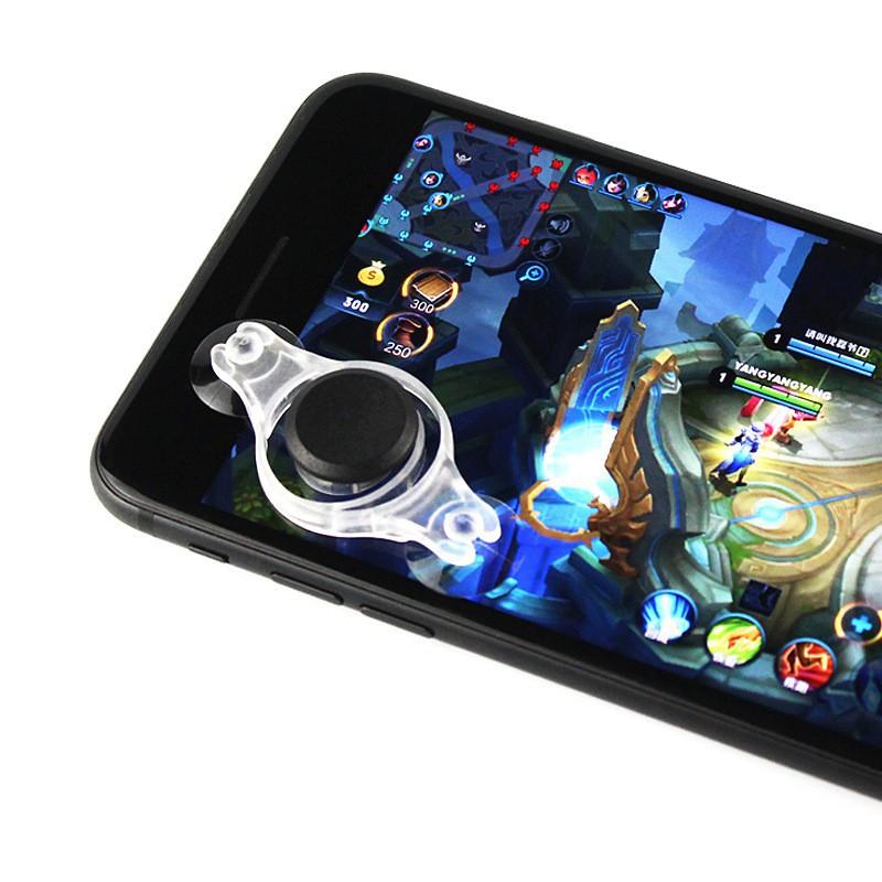 Moblie Joystick Siêu Dính 2018 (Trắng) – Cải Tiến Từ Joystick Fling Mini - Nút Bấm Chơi Game Dành Cho Game Thủ Mobile