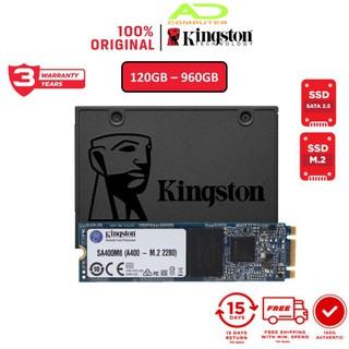 [Mã ELMALL300K giảm 5% đơn 500K] Ổ cứng SSD Kingston A400 240Gb 2.5″ SATA 3.0 6Gb/giây (SA400S37/240G) – Hàng chính hãng