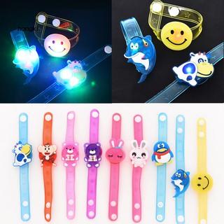 【HKM1】1Pc Lovely LED Cartoon Angry Birds Doraemon Glowing Kids Wristband Bracelet Gift