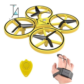 Tabitha ZF04 RC Drone Mini Infrared Induction Hand Control Drone Altitude Hold 2 Controllers Quadcopter for Kids Toy Gift