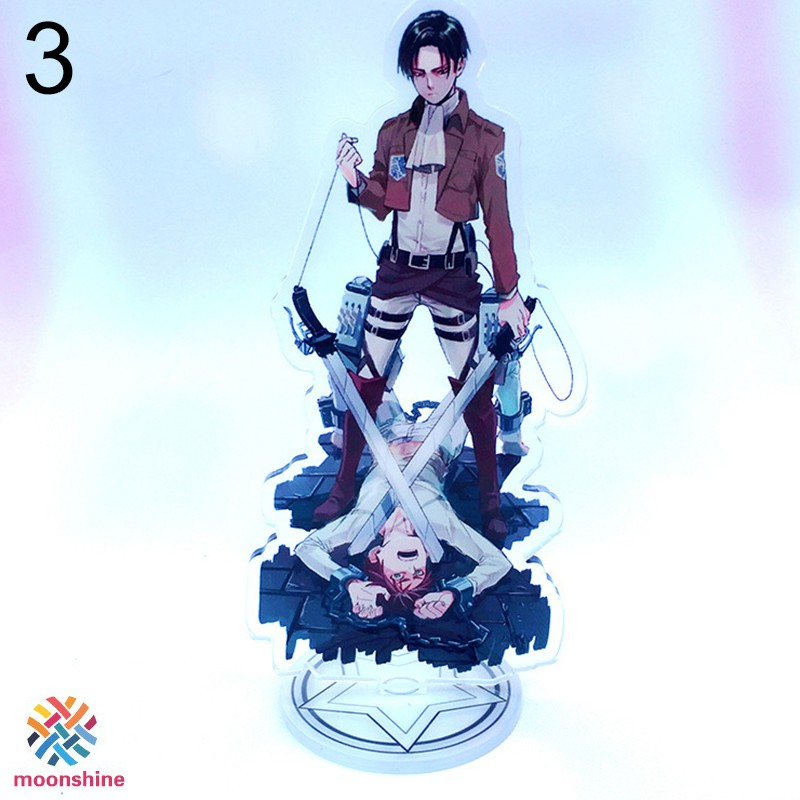 ❤PG❤ Attack on Titan Levi Ackerman Double-sided Acrylic Stand Figure Character Decoration Standing Cartoon Home Collection