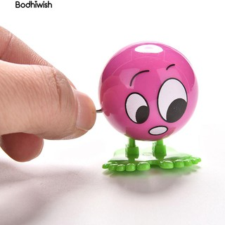 ☎1Pc Face Expressions Ball Cartoon Somersault Running Clockwork bauble