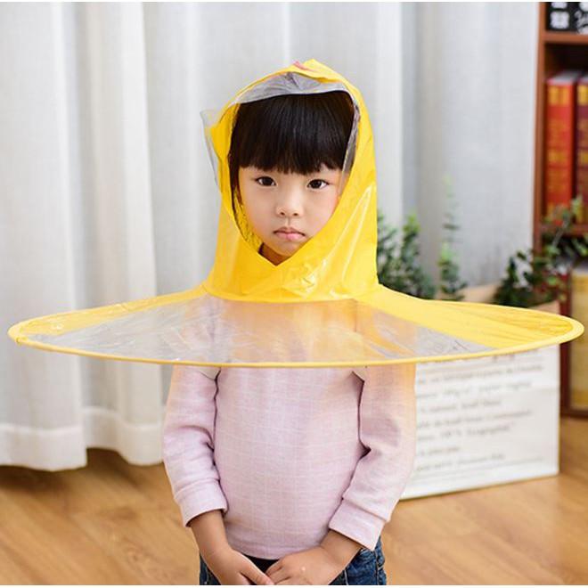 Áo mưa xòe rộng cho bé siêu dễ t
