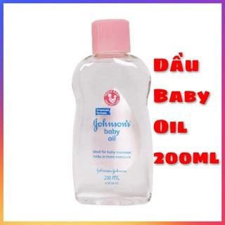 Dầu mát-xa và dưỡng ẩm Johnson s baby Oil 200ml thumbnail