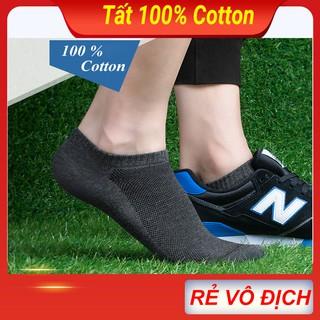 Tất – Vớ nam nữ cổ ngắn cao cấp có lưới thở 100% cotton co giãn 4 chiều, hàng dệt kim xuát khẩu phù hợp mọi loại giầy