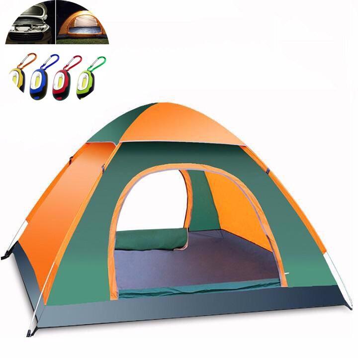 Lều Cắm Trại Lều Dã Ngoại Tự Bung 4-5 Người 2 Cửa 2 Lớp Thông Thoáng
