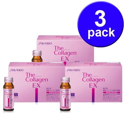 Collagen ex shiseido dạng nước nhật bản 3 hộp(30 lọ)