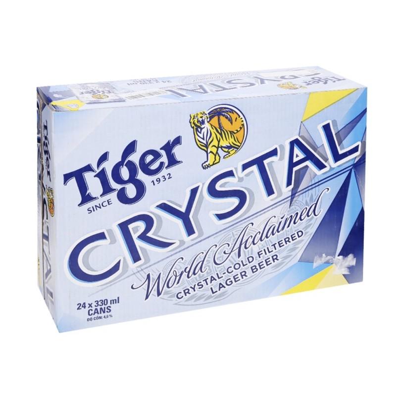Thùng 24lon bia Tiger Crystal 330ml