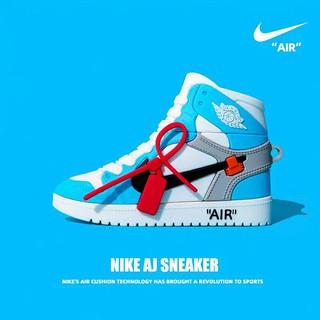 (Order 7 ngày) Case bảo vệ Airpods Pro/1/2/i9s/i10/i11 giày thể thao sneakers cao cổ N I KE Jordan xanh da trời