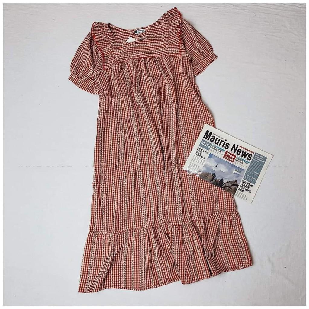 Mặc gì đẹp: Dễ chịu với Đầm bầu thời trang thiết kế chất đũi đẹp freesize từ 45 đến 75kg