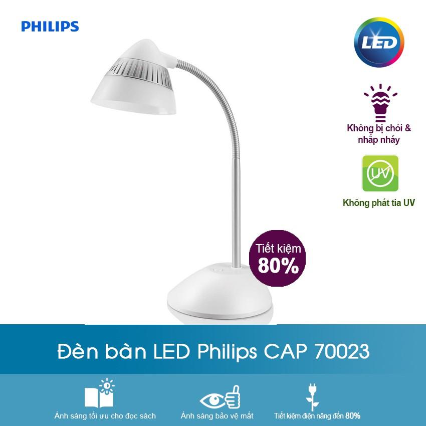 Đèn bàn LED Philips CAP 70023 - 3577016 , 1255191953 , 322_1255191953 , 620000 , Den-ban-LED-Philips-CAP-70023-322_1255191953 , shopee.vn , Đèn bàn LED Philips CAP 70023