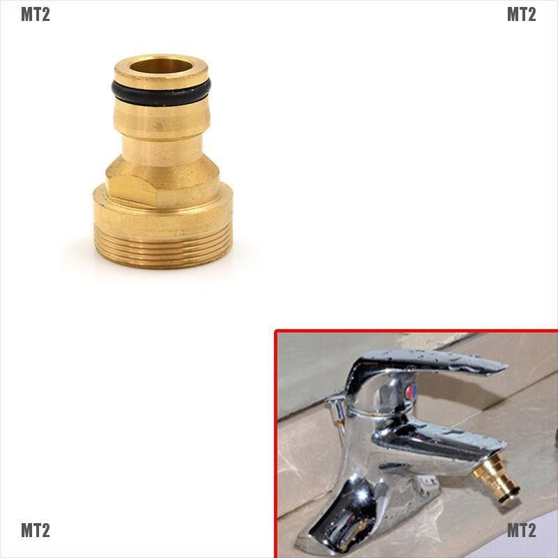 [MT2&TH]1PC Brass Hose Tap Connector 23mm Threaded Home Water Pipe Adaptor Fitting