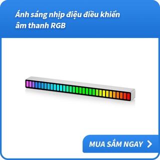 Thanh Đèn LED RGB Ánh Sáng Màu Nhấp Nháy Theo Nhạc Điều Khiển Bằng Giọng Nói 32 Bit