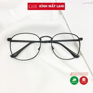 Gọng kính cận nam nữ ulzzang dáng vuông tròn dễ đeo thời trang siêu đẹp Lani 9396 - Lắp Mắt Cận Theo Yêu Cầu thumbnail