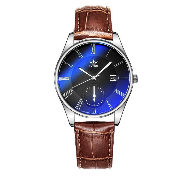 (TRỢ GIÁ KHỦNG)Đồng hồ nam dây da cao cấp FORON JAPAN - Hiển thị lịch ngày - nhiều màu sang trọng