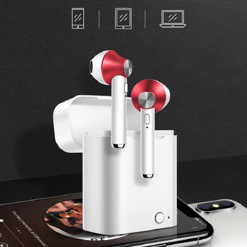In ear TWS 5.0 Bluetooth Earphone Wireless Stereo Earbud Headphones Headset with Mic for iPhone phone sport Handsfree