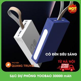 Sạc dự phòng yoobao 30000 mAh,tích hợp đèn trợ sáng