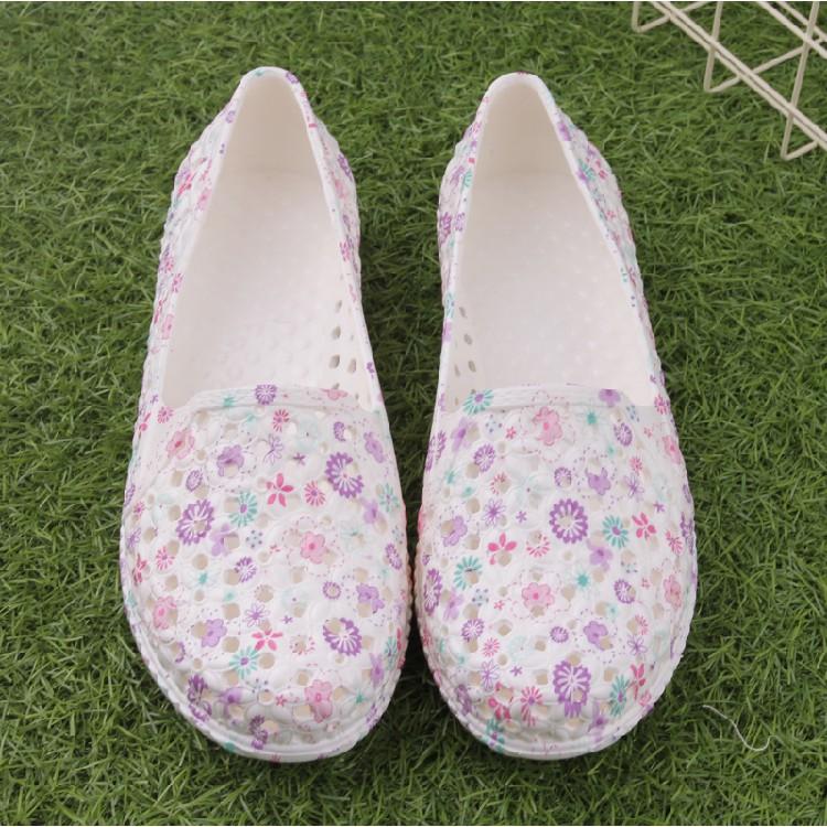 Dép nữ  nhựa - giày không thấm nước -  giày đi biển - giày chống trượt - giày đế bằng- giày búp bê