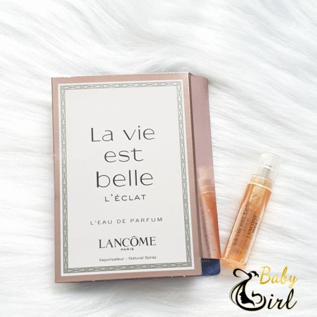 [SIÊU PHẨM] Nước hoa sample chính hãng nữ Lancome Lavie Est Belle 2ml