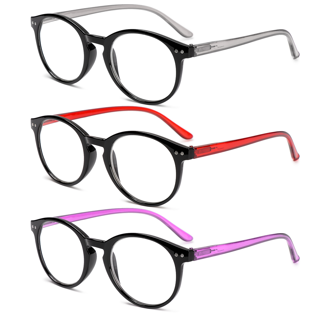 DORAW +1.00~+4.00 Reading Glasses Portable PC Frames Presbyopic Glasses Ultralight High-definition Spring Hinge Unisex Eyeglasses/Multicolor