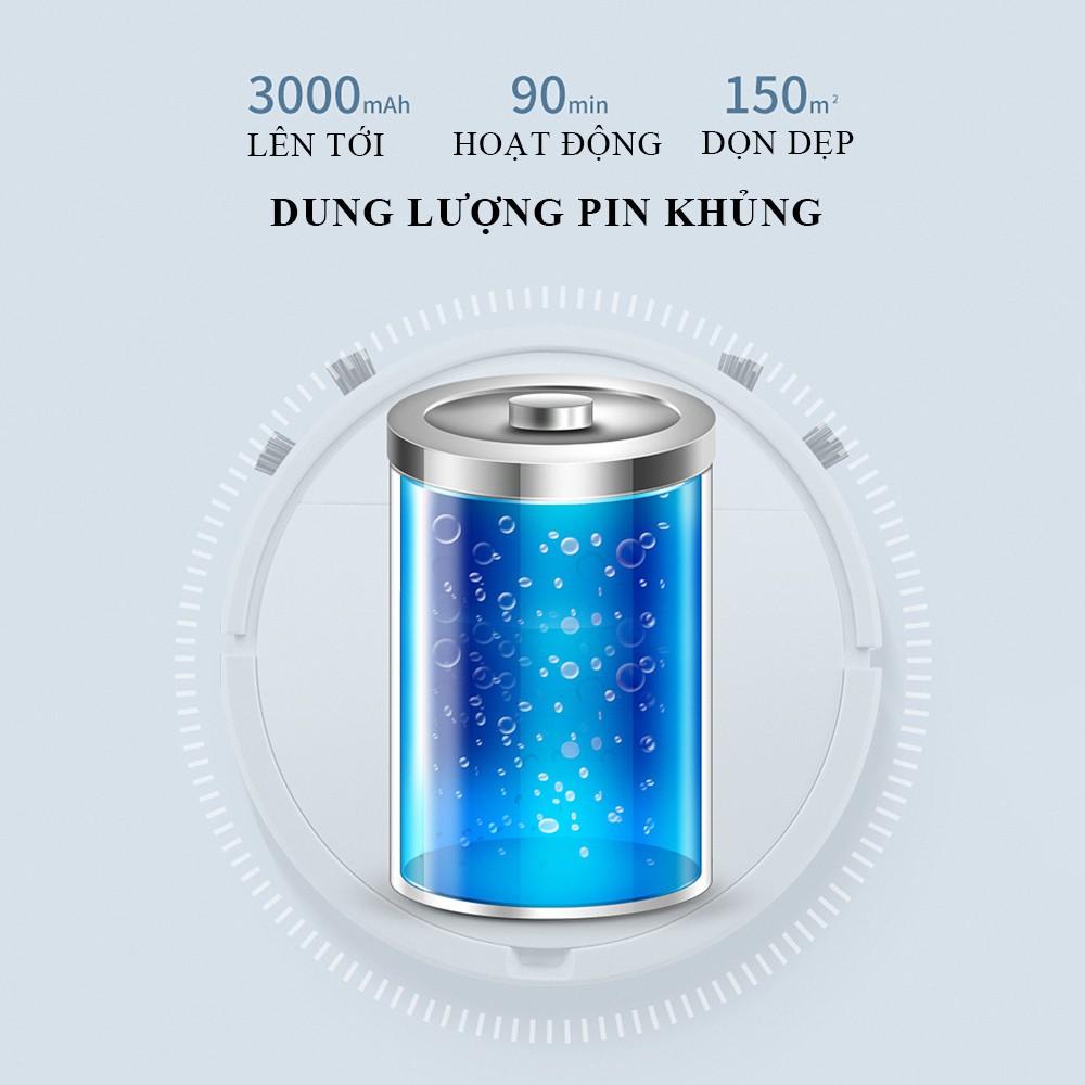 Robot hút bụi lau nhà thông minh dung lượng pin lớn 3000mAh, BẢO HÀNH 2 NĂM, LỖI ĐỔI MỚI 1-1 TRONG 7 NGÀY