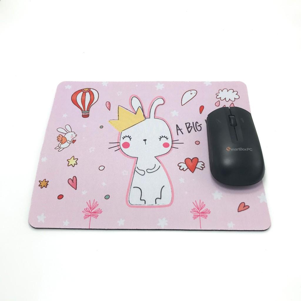 Miếng lót chuột 26x21 đa họa tiết, giúp thao tác chuột dễ dàng