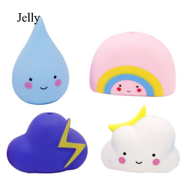 4pcs Children Bath Toys Weather Rain Bathtub Toy Hair for Kids Toddlers J918