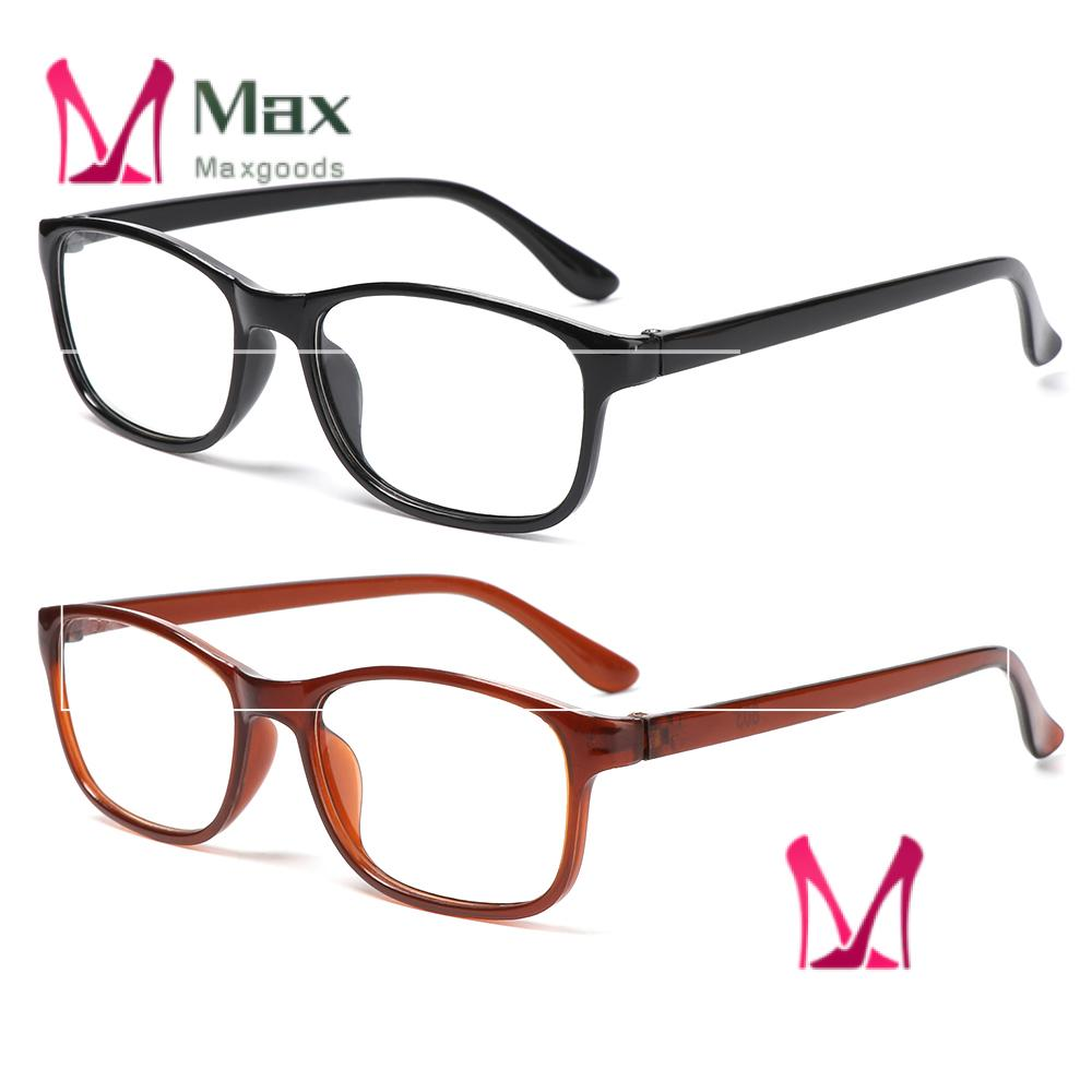 💋MAX Women Reading Glasses Elderly Accessories Eyeglasses Presbyopia Eyewear +1.00~+4.0 Diopter Ultra Light Resin Lightweight Men Vision Care/Multicolor